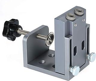 Andoer Hole Locator Jig DIY Kit System Pocket Hole Locator for Wood Working Pocket Hole Drilling Guide Kit Oblique Jig Sys...