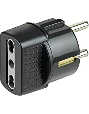 Bticino s3625ge antraciet stekker adapter voor stopcontact