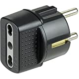 bticino S3625GE Adaptador de Enchufe eléctrico Antracita - Adaptador para Enchufe (16 A, Antracita, De plástico, Male Connector/Female Connector)