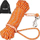 TAILLE: 6 mm de diamètre, par 5 m, 10 m et 15 m de longueur trois pour différents objectifs de formation. Cette laisse pour chien à longue corde donne à votre chiot beaucoup de fil pour errer sans trop s'éloigner. Jusqu'à 20kg LUMINEUX ET RÉFLÉCHISSA...