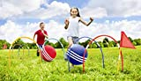 Giant Kick Croquet Game Set | Includes Inflatable Croquet Balls, Wickets & Finish Flags