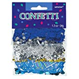 Amscan 360518 Hanukkah Icons Foil Confetti Party Pack Red, Green And Orange Colors 1 pack Party Decoration
