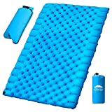 Tanzfrosch Double Sleeping Pad Camping Mat for 2 Person Queen Size Inflatable Portable Camp Air Mattress Pad for Tent Traveling Backpacking Camping Hiking