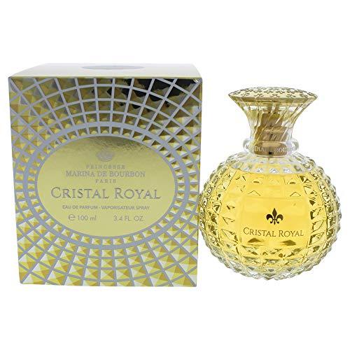 Cristal Royal by Princesse Marina de Bourbon | Eau de Parfum Spray | Fragrance for Women | Floral, Woodsy, and Musky Scent | 100 mL / 3.4 fl oz,