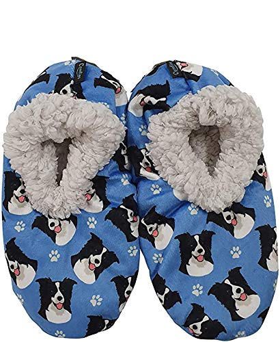 Border Collie Super Soft Womens Slippers #3