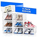 NEATLY Shoe Organizer Shoe Storage - Shoe Boxes Clear Plastic Stackable, Plastic Shoe Box. Sneaker Shoe Containers, Shoes Organizer for Closet Organizers and Storage Bins, Organizador De Zapatos