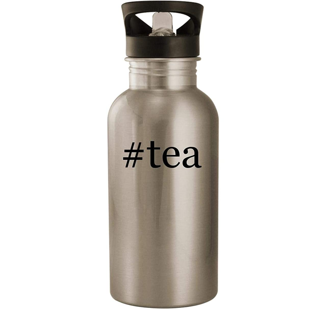 #tea - Stainless Steel Hashtag 20oz Road Ready Water Bottle, Silver