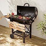 Alice's Garden Barbecue américain Charbon de Bois - Serge Noir - Smoker américain...