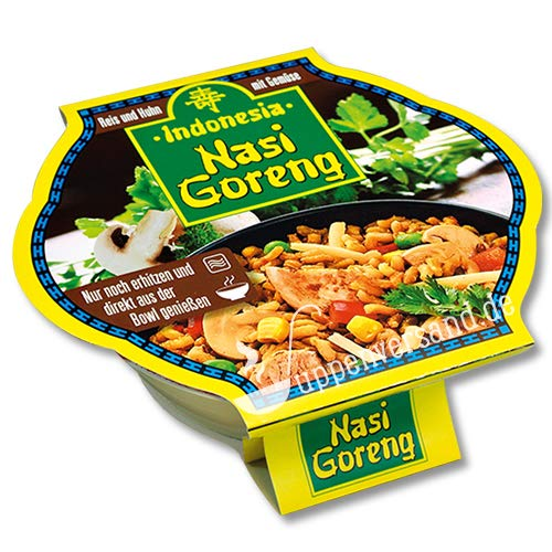 Indonesia Bowl Nasi Goreng Fertiggericht mit Gemüse, Reisgericht mit Hühnerfleisch, 400 gramm