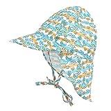 LACOFIA Cappello da Spiaggia Protezione Solare 50 + UPF per Neonato Berretto Estivo Regolabile per Bambini Balena 6-18 Mesi