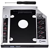 Zacro SATA HDD HD SATA Segundo 2.5 '' Disco Duro Caddy/Optical Bahía de Disco Duro SATA de 12,7 mm Portátil de CD/DVD-ROM de HP Sony Acer IBM ASUS Fujitsu Toshiba etc