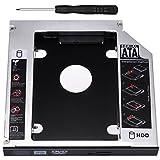 Zacro sata hdd hd sata segundo 2. 5 '' disco duro caddy/optical bahía de disco duro sata de 12,7 mm portátil de cd/dvd-rom de hp sony acer ibm asus fujitsu toshiba etc