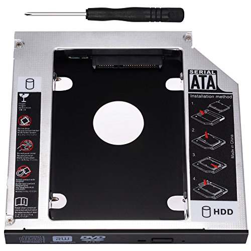 Zacro SATA HDD HD SATA Segundo 2.5 '' Disco Duro Caddy/Optical...