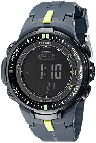 "Casio Men's PRW-3000-2CR ""Protrek"" Sport Watch with Black Resin Band"