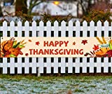 "HAPPY THANKSGIVING BANNER: Thanksgiving day background banner size in 17.8""x 90"". HIGHLY QUALITY MATERIAL: Thanksgiving sign banner are made of Polyester Fabric, better than plastic, reused and durable. EASY TO USE: This banner come with lace tape, a..."