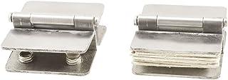 YeVhear Hardware douche-scharnieren met dubbele clip, glas, 2 stuks