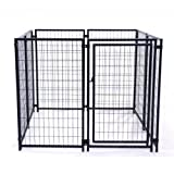 ALEKO DK5X5X4SQ Pet System DIY Box Kennel Dog Kennel Playpen Chicken Coop Hen House 5 x 5 x 4 Feet