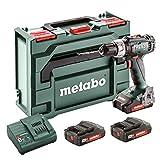 Metabo SB 18L - Trapano a percussione con 3 batterie da 2 Ah, coppia svasata Nm