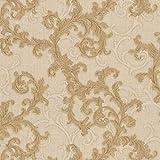 Papier peint baroque Tapisserie baroque Papier peint intissé Beige/crème Or 962312 | Papier peint pas cher
