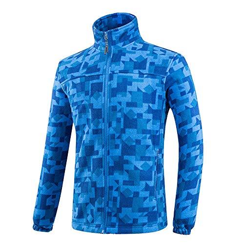 BIUBIUCLA Unisex Trendiger Camouflage Bedrucken Polar Fleecejacke Mit Reißverschluss Fallen Winter Warme Cozy Outerwear für Männer und Frauen