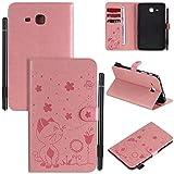 Miagon Smart Coque pour Samsung Galaxy Tab A6 SM-T280 {7'},PU Cuir Chat Abeille Cover Housse Étui...