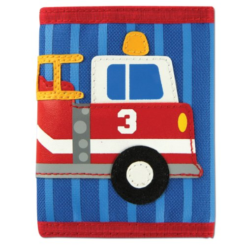 Stephen Joseph Unisex Kids Toddler Wallet, Firetruck, 3T, 4T, 5T, 6X, toddler, preschool, school
