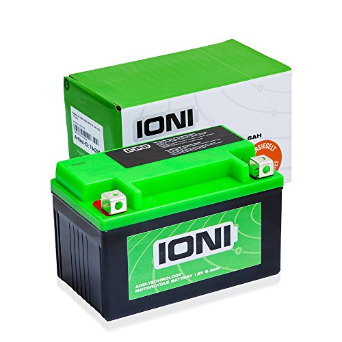Motorrad Batterie 12V 8,5Ah AGM IONI ION (TYP - MG10ZS / ähnlich YTZ10S)