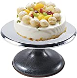 JSY Soporte de Torta de aleación de aleación de Aluminio Giratorio Giratorio con Fondo de Caucho sin Deslizamiento for Herramientas de Hornear de Cupcake de Pastel Suministros Moldes para Magdalenas