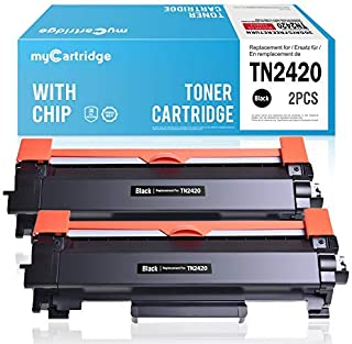 MyCartridge 2 toner Compatible Brother TN2420 TN 2420 (con chip) para Brother HL-L2350DW DCP-L2530DW MFC-L2710DW MFC-L2710...