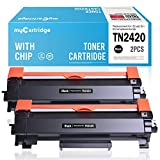 MyCartridge 2 Toner Compatible Brother TN2420 TN 2420 (con Chip) para Brother HL-L2350DW DCP-L2530DW MFC-L2710DW MFC-L2710DN HL-L2370DW HL-L2370DN HL-L2375DW (2*Negro)