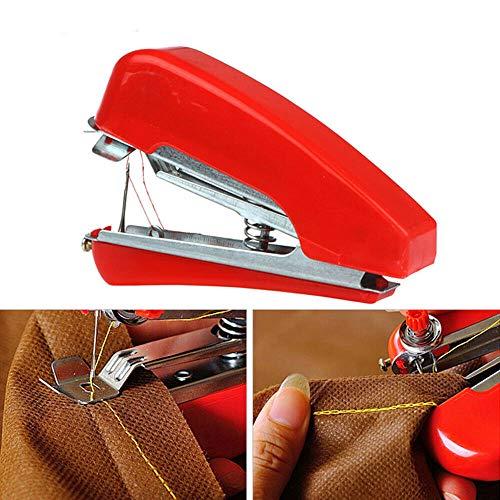 Mini máquina de coser POWERTOOL máquina de coser de mano pequeña y compacta máquina de coser manual portátil para tela, ropa, ropa de niños, uso de viaje en casa, manualidades