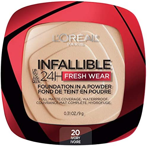 L Oreal Paris Infallible Fresh Wear Foundation in a Powder Up to 24H Wear Ivory 0 31 oz product image
