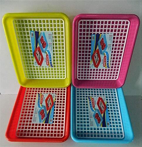 2x bandeja de décongeler plástico blanco cocina con rejilla 35x 27x 5,6cm