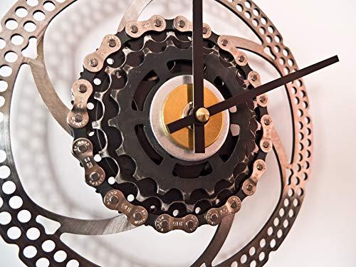 Wanduhr Rusty Fahrrad/Uhr Radsport Geschenk Bike Rennrad Mountainbike Radfahrer Radsportler Triathlon Sport Upcycling Bremsscheibenuhr