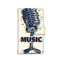 [bodenbaum] AQUOS Compact SH-02H 手帳型 スマホケース カード ミラー スマホ ケース カバー ケータイ 携帯 SHARP シャープ アクオス コンパクト docomo music レトロ マイク a-260 (A.クリーム)