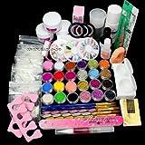 Kit completo de manicura, con uñas de gel en polvo, acrílicas, kit de plumones, uñas para secado en lampara UV, arte en tus uñas, DIY, ideas para diseño de uñas de pato