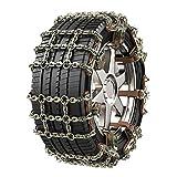 SCCS Chaine Neige Automatique, Chaine Neige Easy Grip, Chaine Voiture Neige Quad Utilitaire Universelle Rapide (A, L (205mm-285mm))
