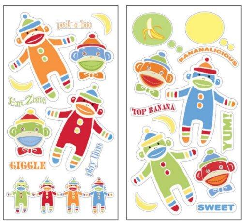 Fun Sock Monkey Wall Decal Stickers