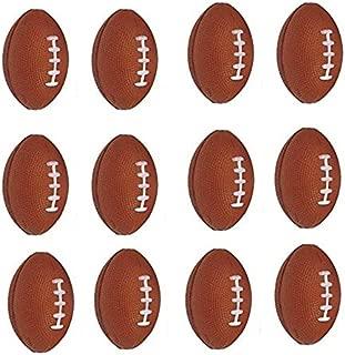 Neliblu 12 Football Sports Stress Balls Bulk Pack of 1 Dozen 2.5