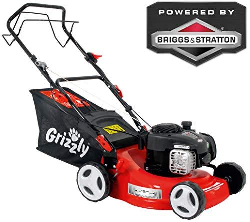 Grizzly Benzin Rasenmäher BRM 42 125 BSA - Briggs & Stratton Motor 300 E Series - Hinterradantrieb - (42cm Schnittbreite, 5-fach zentrale Höhenverstellung)