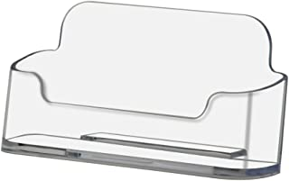Deflecto Business Card Holder, Single Compartment, 3-3/4