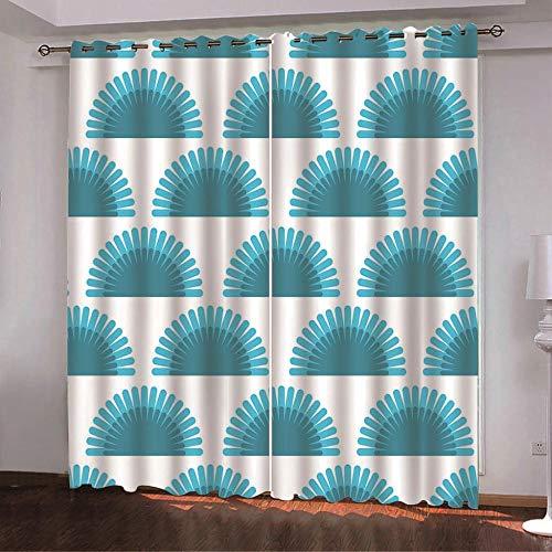 Tanboank - Cortinas con ojales semicirculares opacas para dormitorio o habitación de los niños, cortina térmica con ojales, microfibra, 2 x 260cm(H) x 140cm(B)