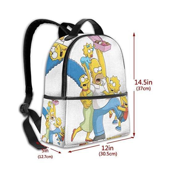 51iJoVYEOFL. SS600  - Anime Cartoon Simpsons - Mochila para Estudiantes, Unisex, diseño de Dibujos Animados, 14,5 x 30,5 x 12,7 cm