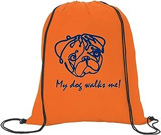 حقيبة ظهر ماي دوج ووكرز مي برباط ، برتقالي ساطع ، 33 سم عرض × 41 سم ارتفاع