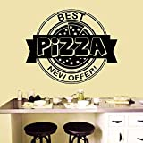 NSRJDSYT Pizza Shop Wandtattoo Abnehmbare Pizzeria Fast