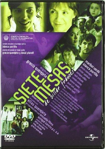 Siete Mesas de Billar Frances Region 2 Spanish Audio WITHOUT ENGLISH SUBTITLES by Maribel Verdu