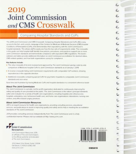 51iJp+7DRuL - 2019 Joint Commission and CMS Crosswalk: Comparing Hospital Standards and CoPs