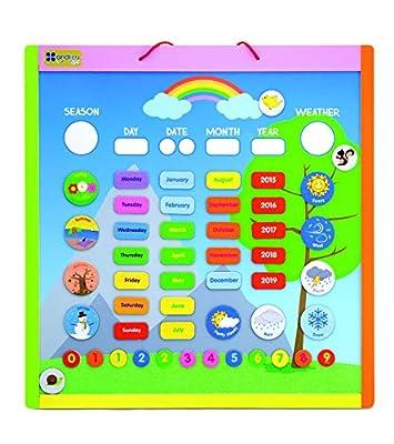 Andreu Toys Calendario magnética - Versión Inglés Bunt Gr. 41 x 42,5x1,2cm de Andreu Toys