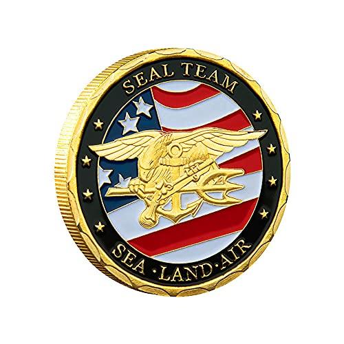 N C Monedas de Cinco ejércitos Extranjeros pintadas Moneda Conmemorativa de American Eagle Marine Corps, American Liberty Eagle Lucky Morgan Coin Freedom Hobo Coin Souvenir Coin