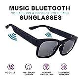 PUKEFNU Gafas De Sol Bluetooth Wireless Headset 5.0 Conducción Ósea Auriculares Hombres Mujeres Impermeable para iOS Android Música Conductor Deportivo Ciclismo Gafas Inteligentes Auriculares,DGY